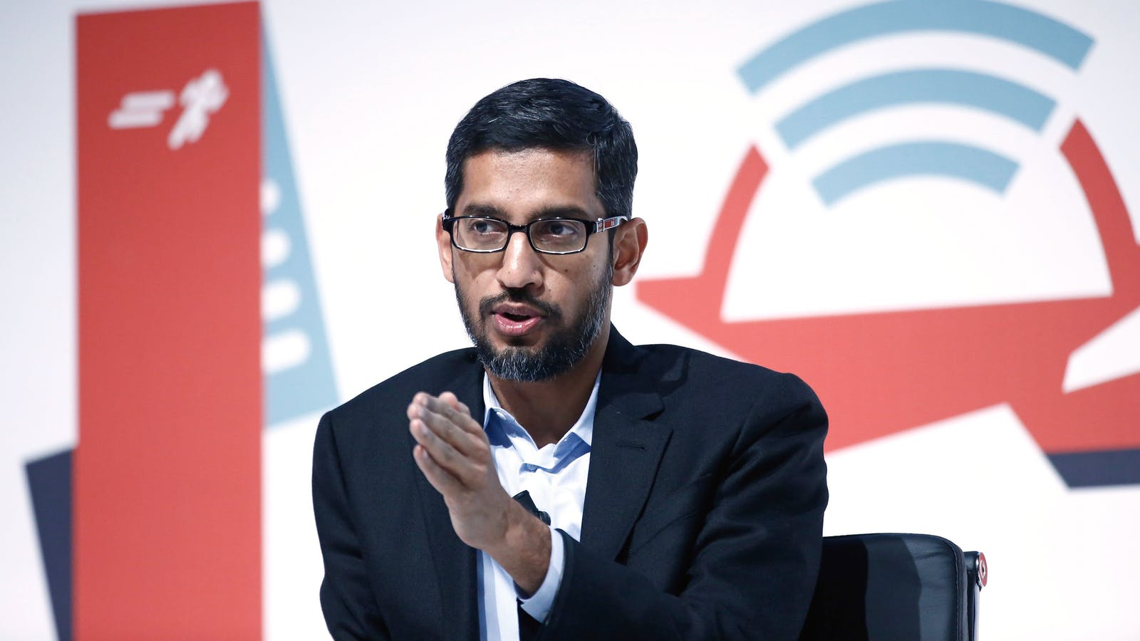Google CEO Sundar Pichai at Mobile World Congress earlier this year. Photo by Bloomberg.