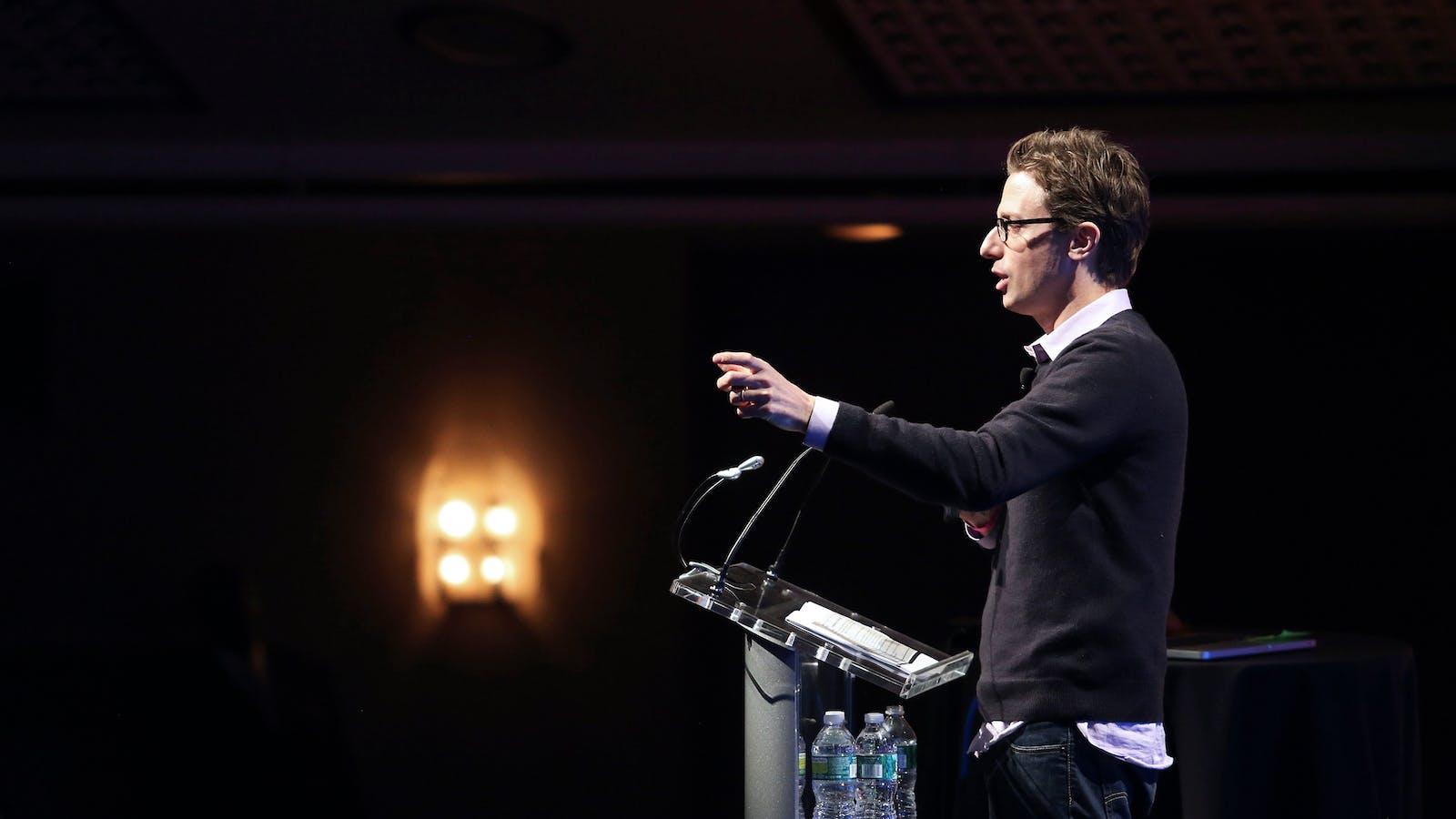 Buzzfeed CEO Jonah Peretti. Photo by Flickr/TechCrunch/Max Morse.