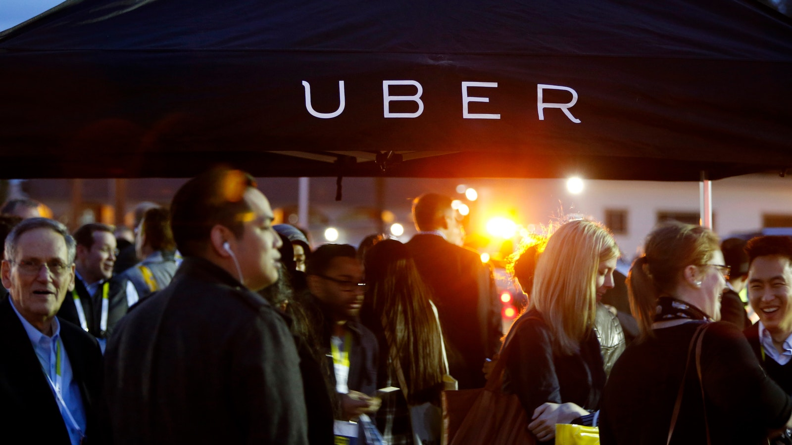 Uber at CES this month. Photo by Bloomberg.