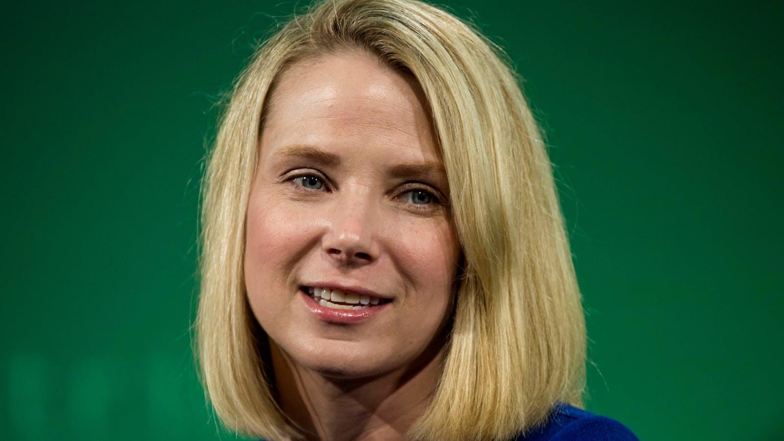 Yahoo CEO Marissa Mayer. Photo by Bloomberg.