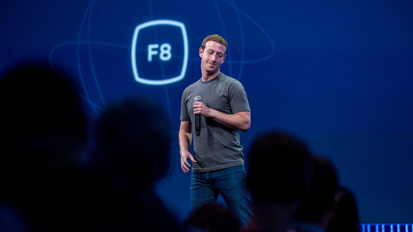 Mark Zuckerberg at last year's F8. Photo by Bloomberg.