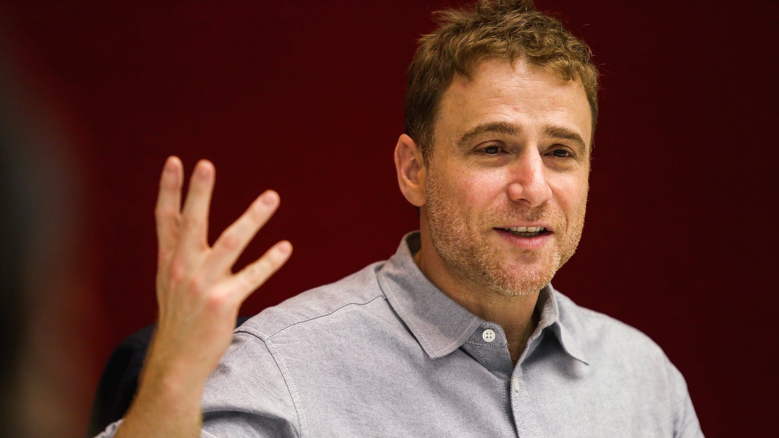 Slack CEO Stewart Butterfield. Photo by Bloomberg.