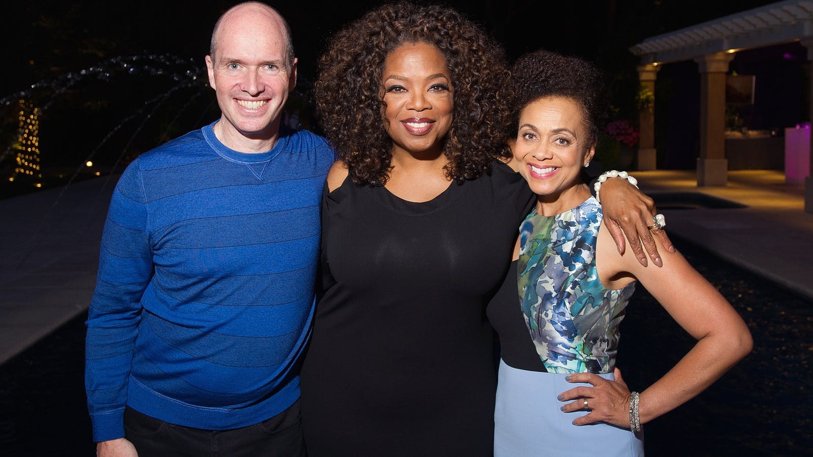 Ben Horowitz with his wife Felicia and Oprah Winfrey, center. Photo by AP.