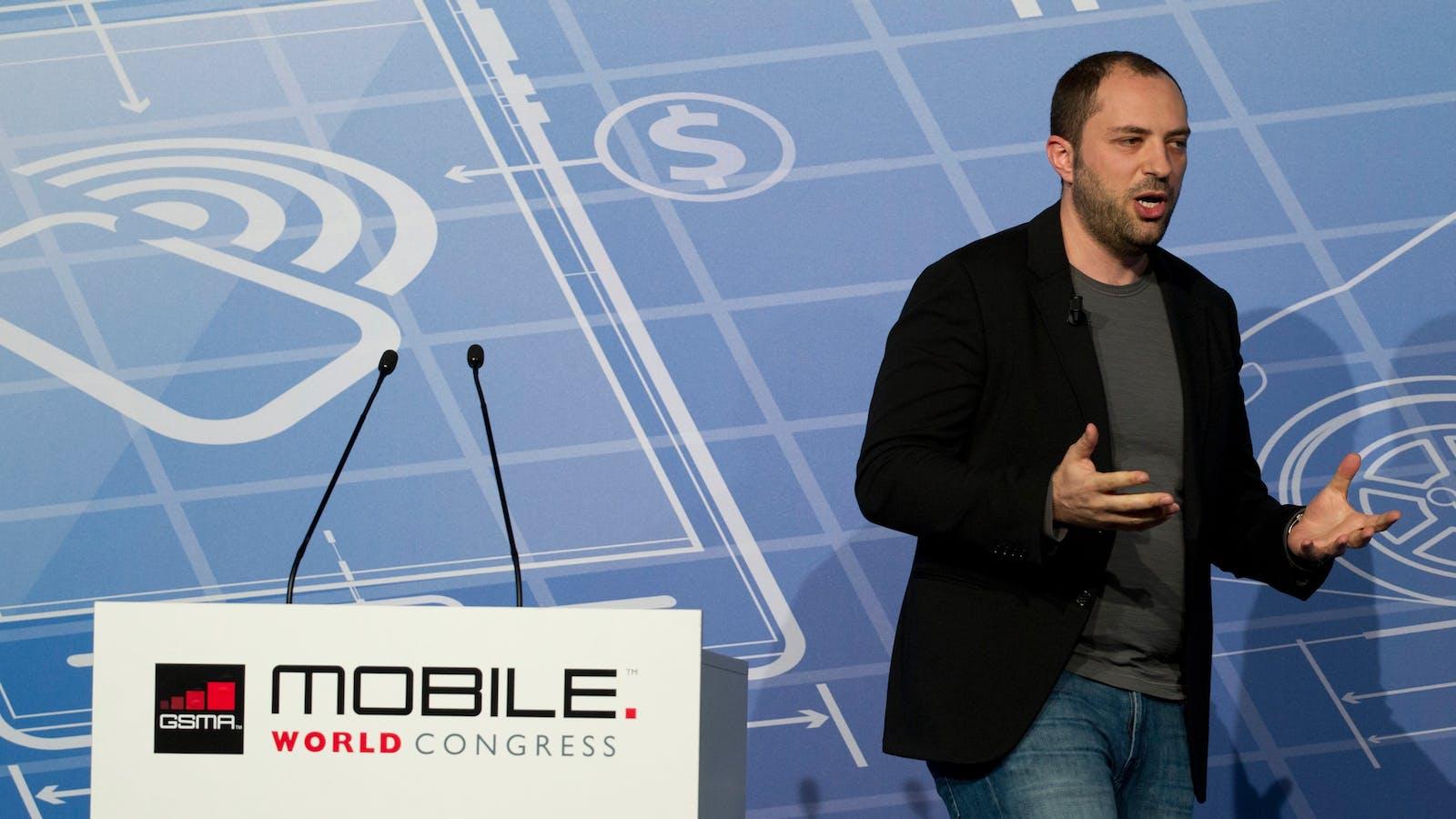 WhatsApp CEO Jan Koum. Photo by Bloomberg.