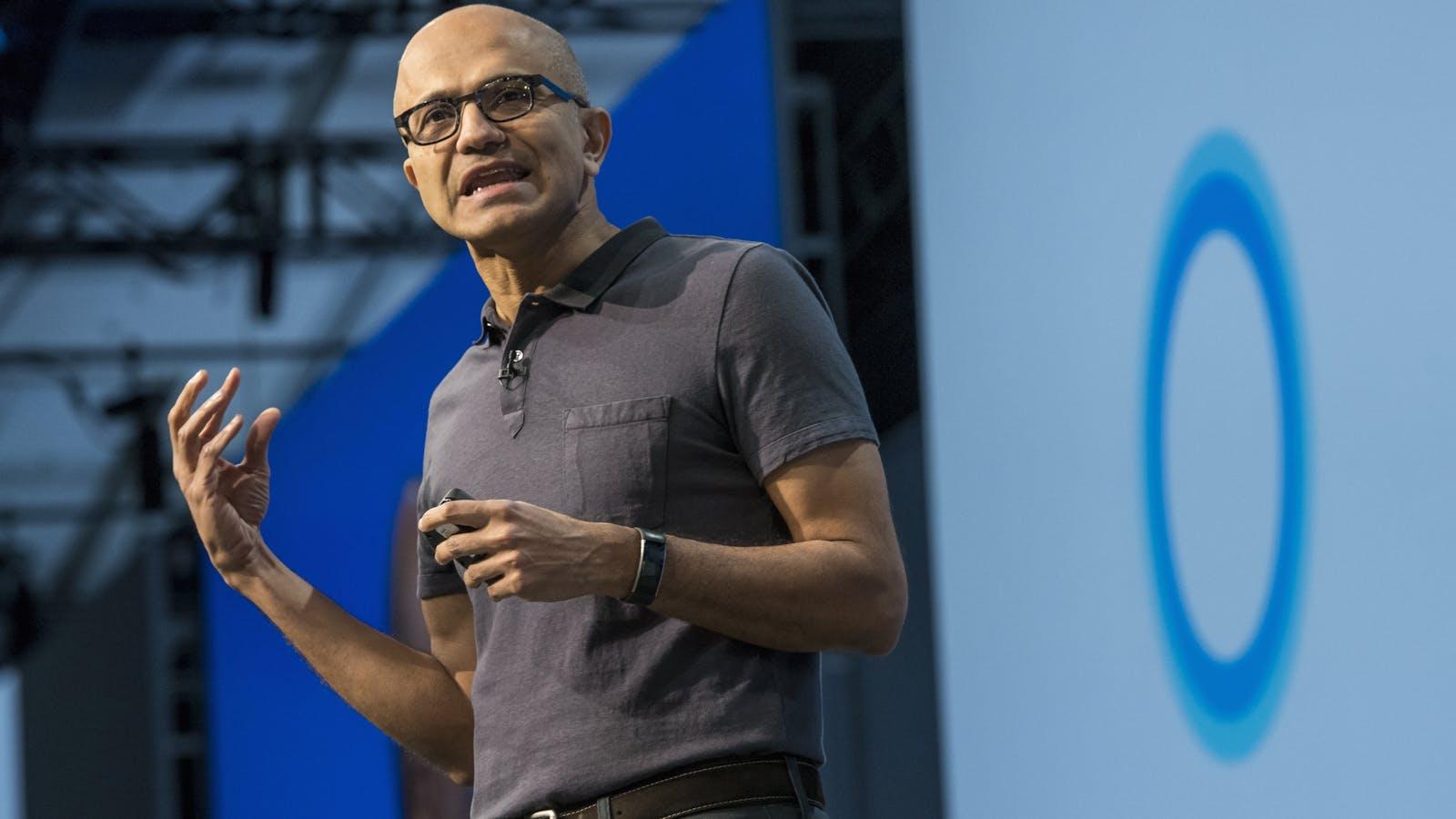 Satya Nadella. Photo by Bloomberg. Other executive photos by Microsoft.