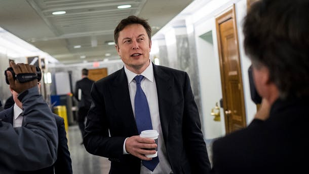 SpaceX CEO Elon Musk. Photo by Bloomberg.