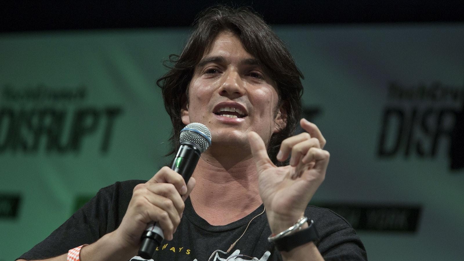 WeWork CEO Adam Neumann. Photo by Bloomberg.