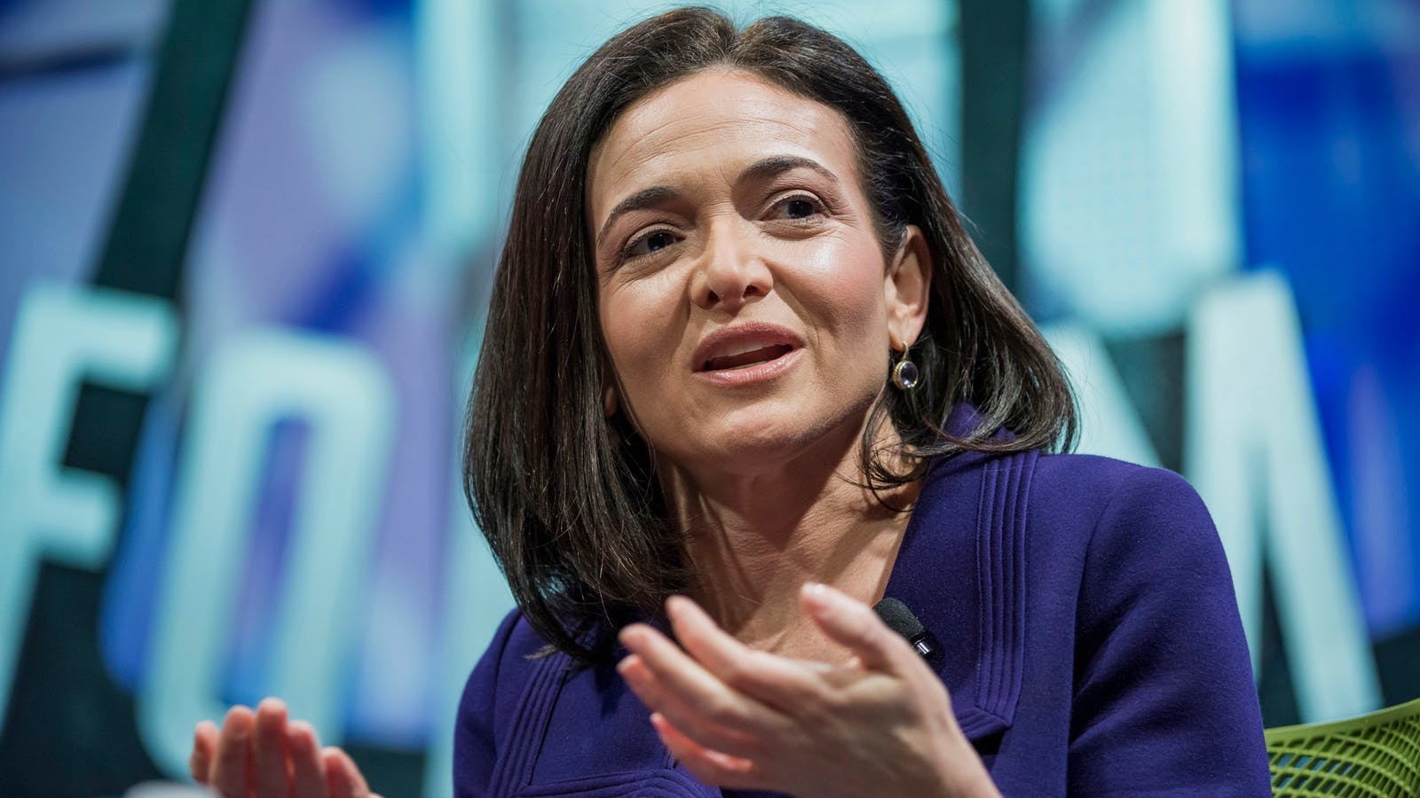 Facebook COO Sheryl Sandberg. Photo by Bloomberg.