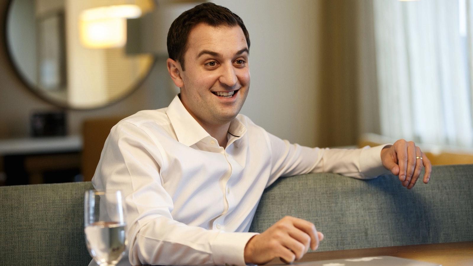 Lyft co-founder John Zimmer. Photo by Bloomberg.