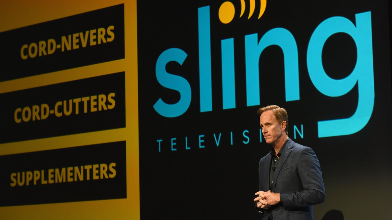 Sling TV CEO Roger Lynch at the Consumer Electronics Show in January. Photo by Bloomberg.