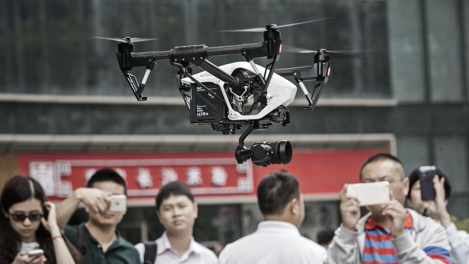 """A DJI """"Inspire"""" drone. Photo by Bloomberg."""