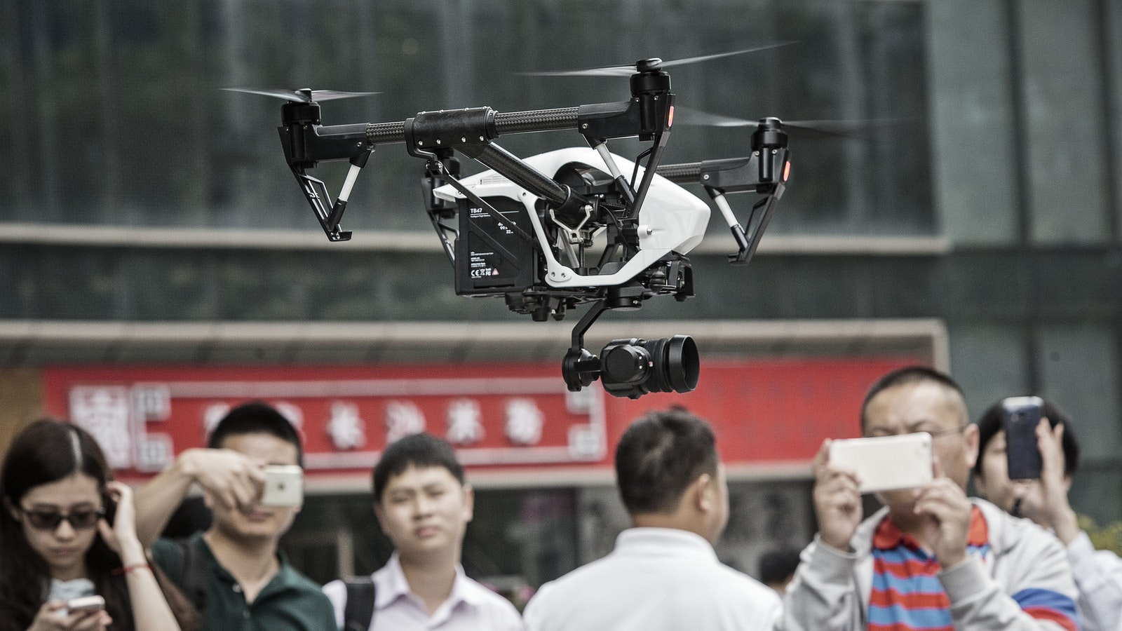 "A DJI ""Inspire"" drone. Photo by Bloomberg."