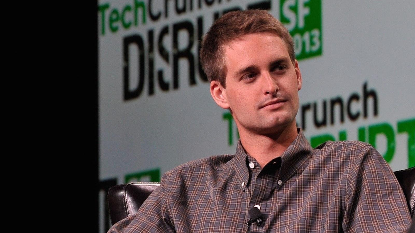 Snap CEO Evan Spiegel. Photo by Flickr/TechCrunch.