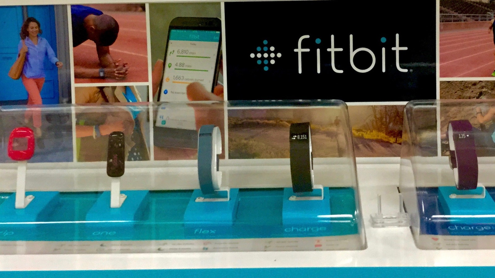 Fitbit products on display. Photo by Flickr/Mike Mozart.