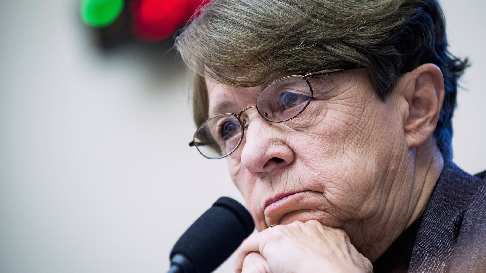 Former SEC Chairwoman Mary Jo White. Photo by Bloomberg.