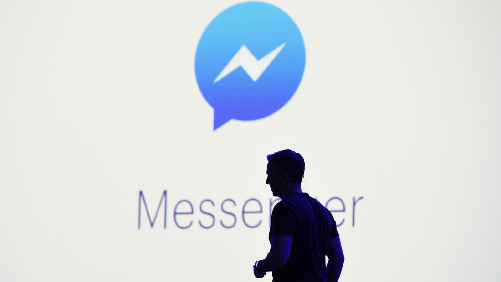 Facebook's VP for messaging products, David Marcus, at F8 last year. Photo by Bloomberg.
