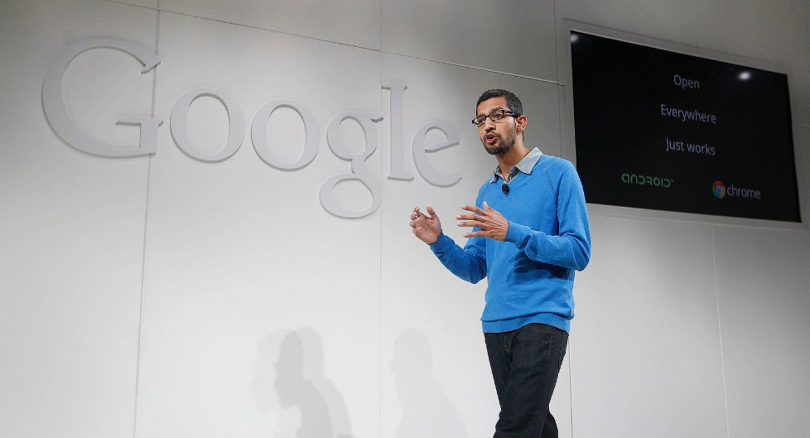 Sundar Pichai, head of Android. Photo by Bloomberg.