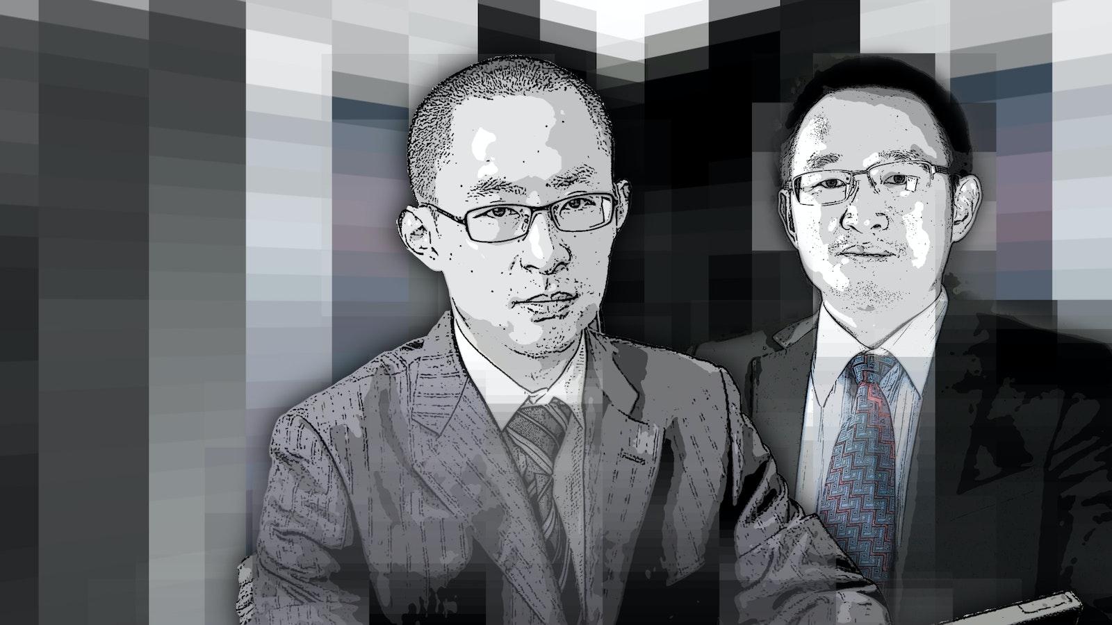 Huang Xiaojie and Wu Gang. Art by Matt Vascellaro.