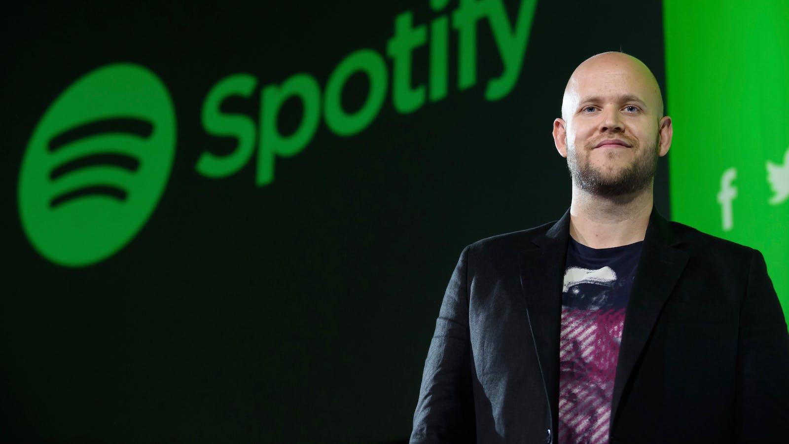 Spotify CEO Daniel Ek. Photo by Bloomberg.