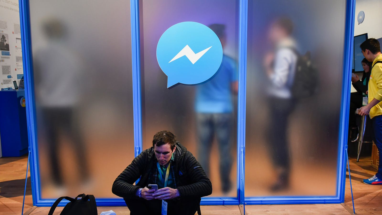 An attendee at Facebook's F8 developers conference last year. Photo by Bloomberg.