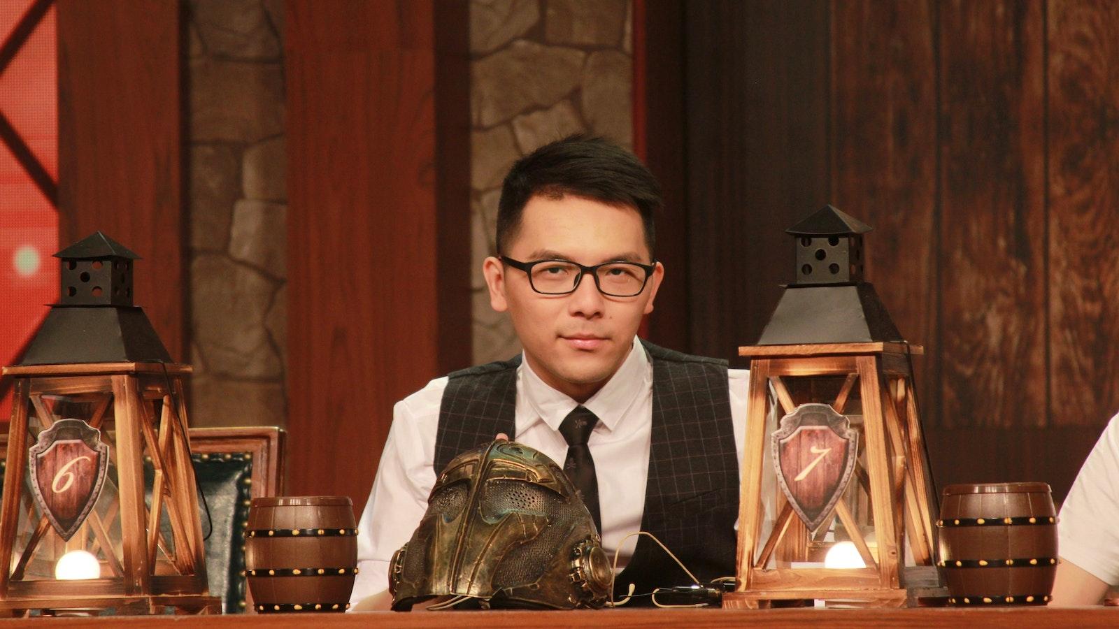 Jiang Feng, who goes by the online handle Zhijian, on Zhanqi TV's Werewolf Program Lying Man. Photo by Zhanqi TV.