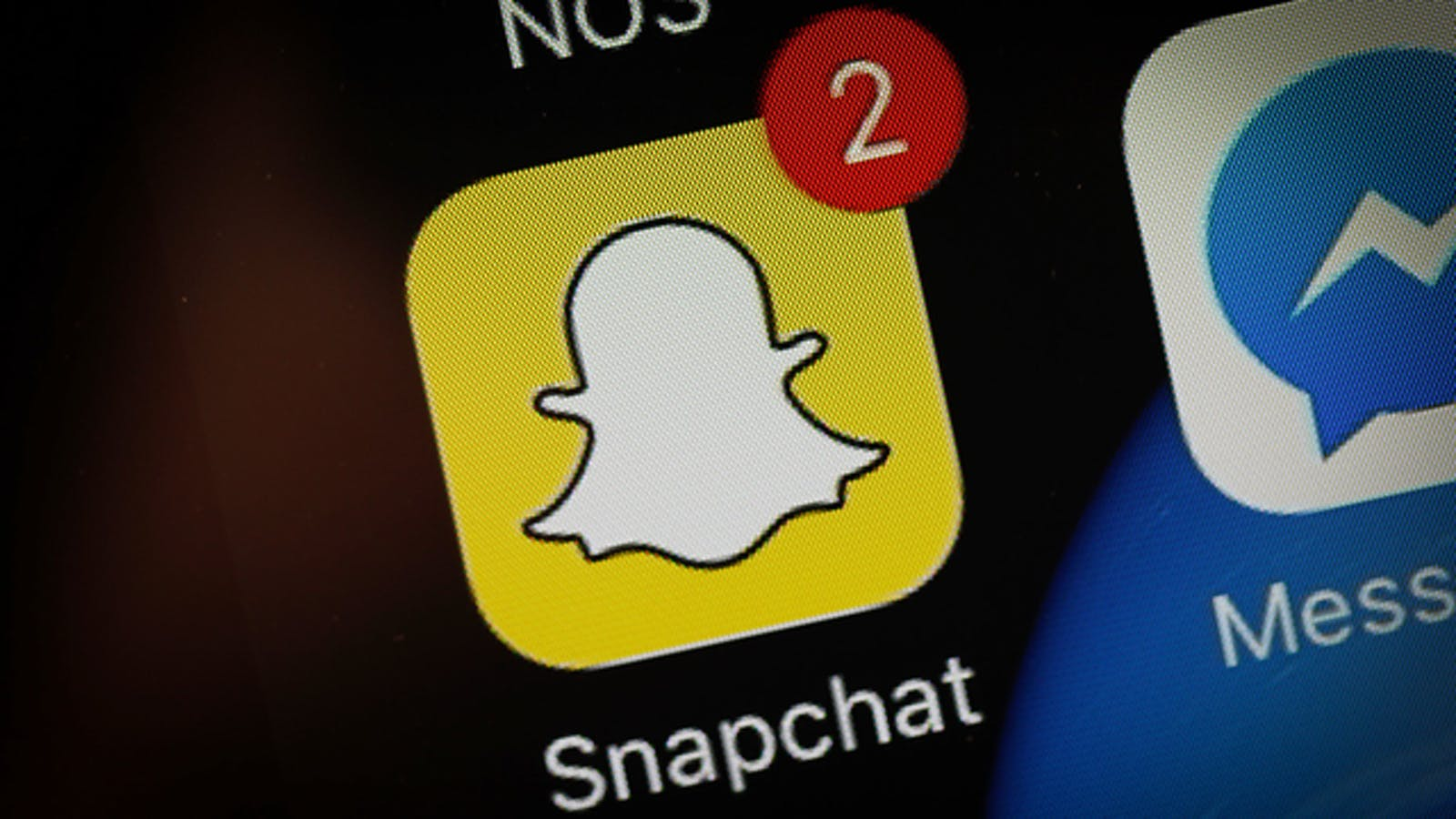 Snapchat app is seen on an iPhone. Photo by AP