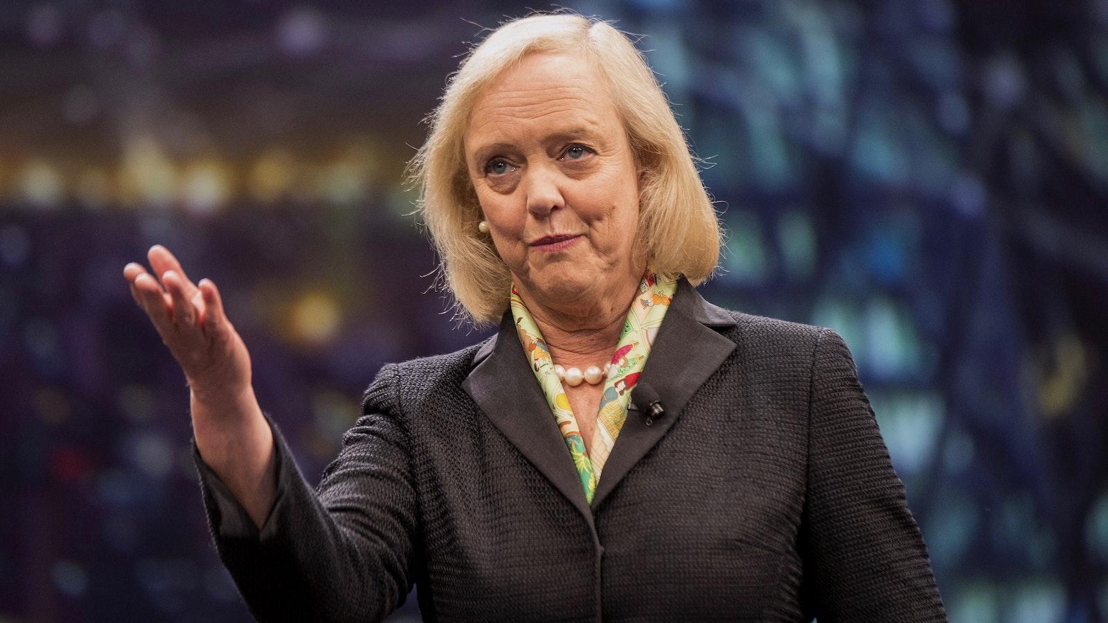 Hewlett Packard Enterprise CEO Meg Whitman. Photo by Bloomberg.