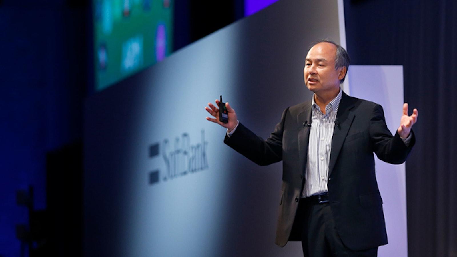 SoftBank CEO Masayoshi Son. Photo by AP.