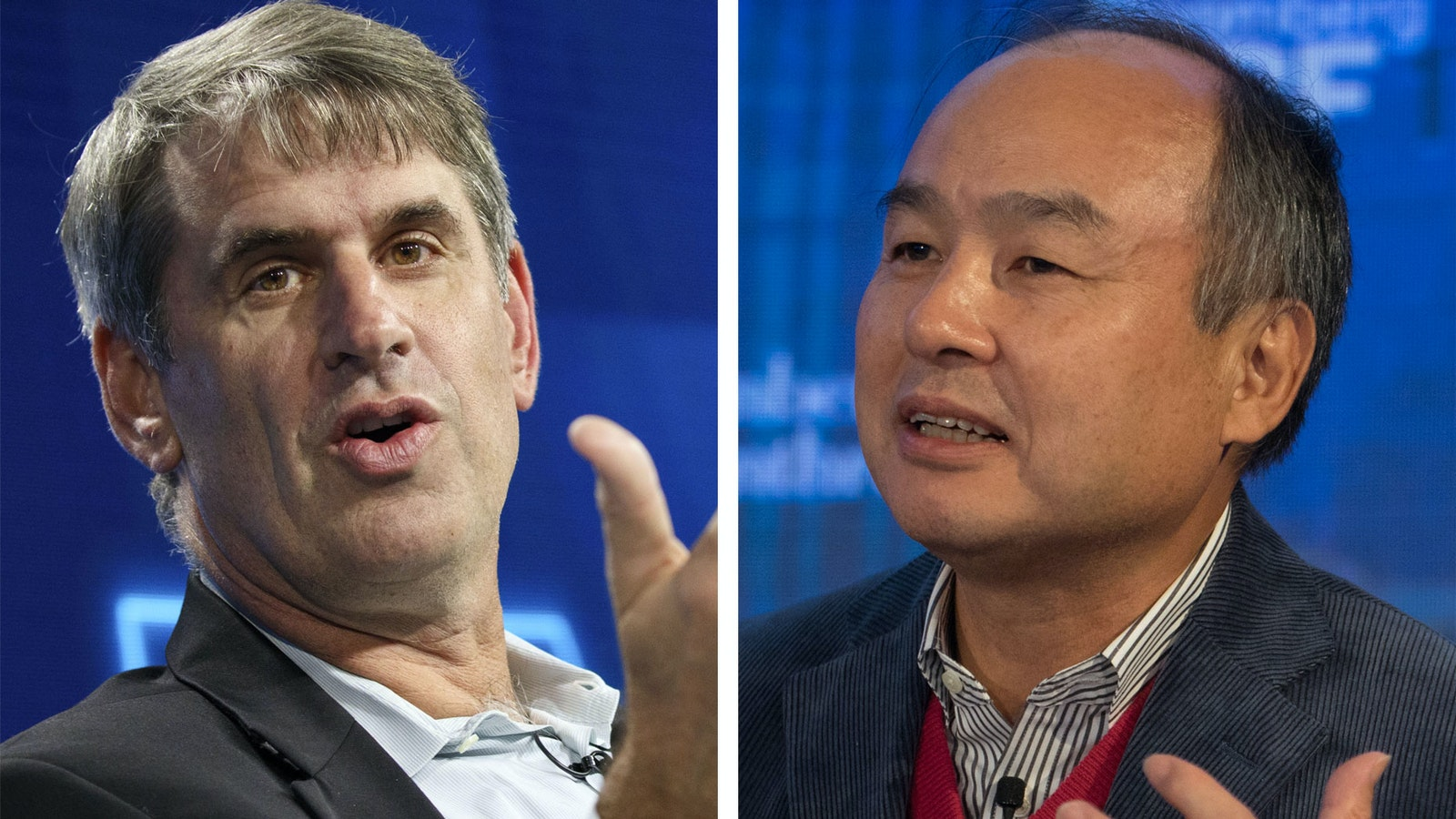 Bill Gurley of Benchmark and Masayoshi Son of SoftBank. Photo by Bloomberg.