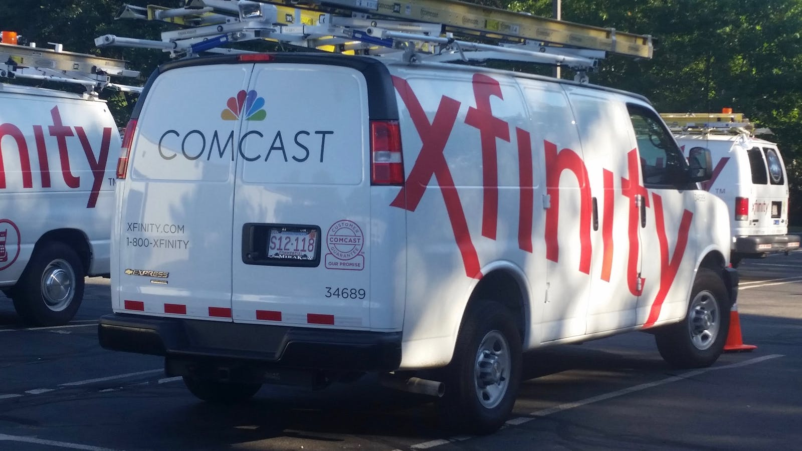 A Comcast cable truck. Photo by AP.