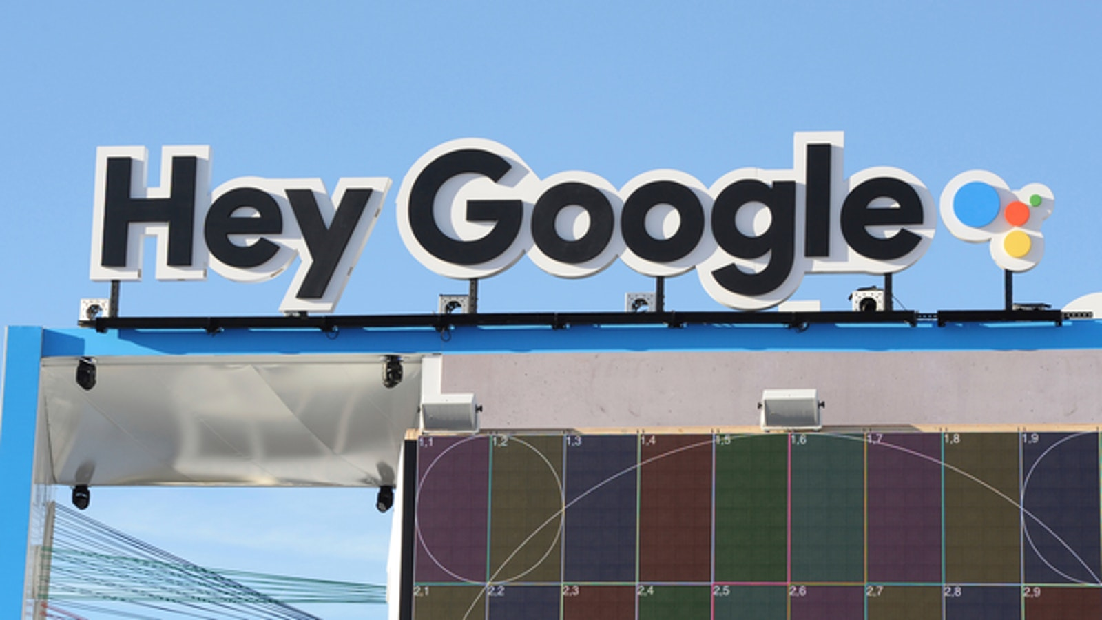 Google's pavilion at CES this week. Photo by AP