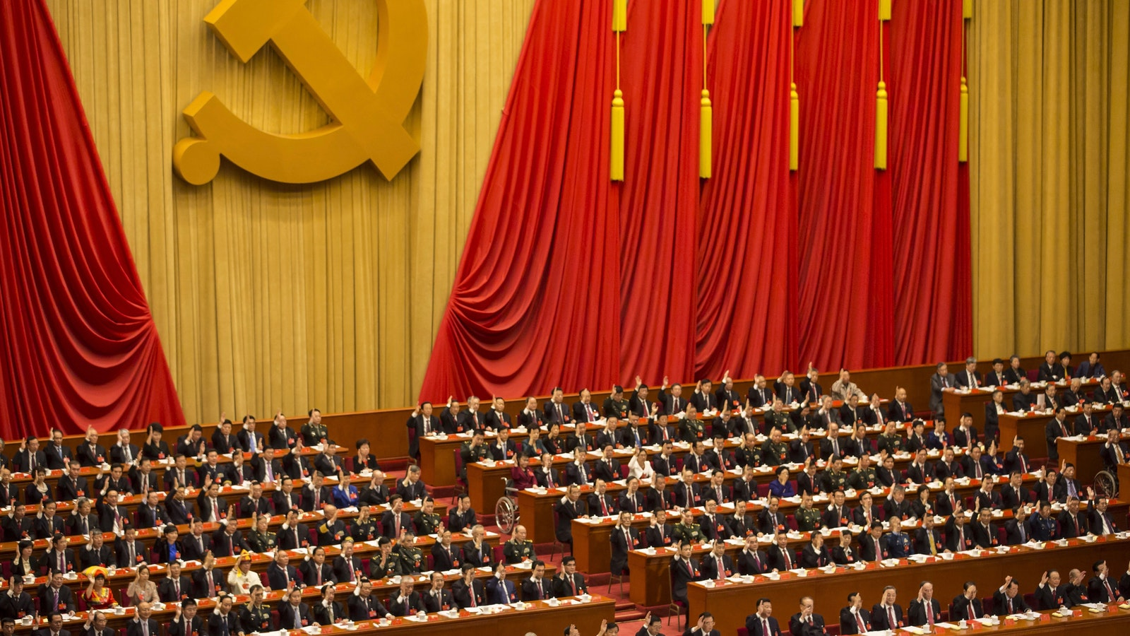A session of the Chinese Communist Party's National Congress last October. Photo by Bloomberg.