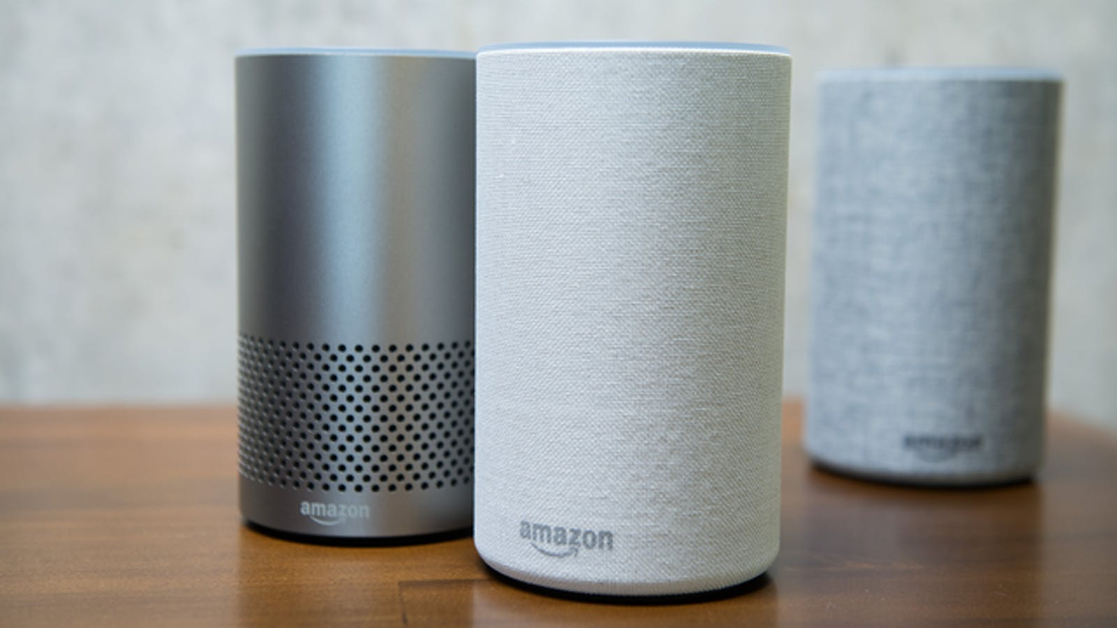 Amazon's Echo devices, powered by Alexa. Photo by Bloomberg.