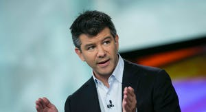 Uber co-founder and CEO Travis Kalanick. Photo by Bloomberg.