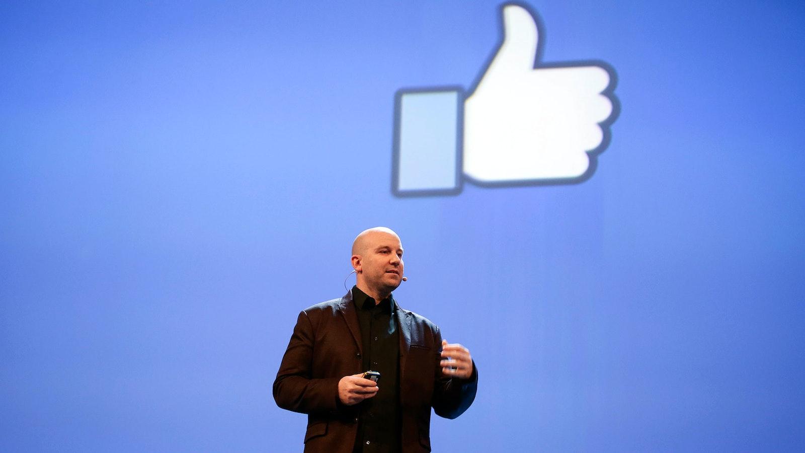 Andrew Bosworth, Facebook vice president of consumer hardware. Photo: AP