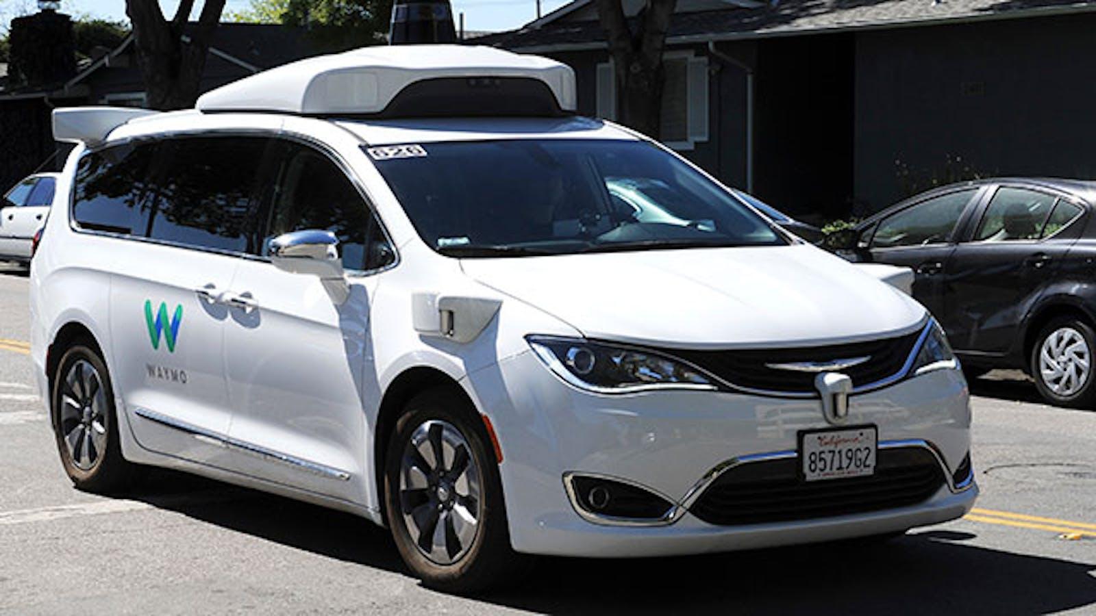 A Waymo car on a test drive. Photo: AP