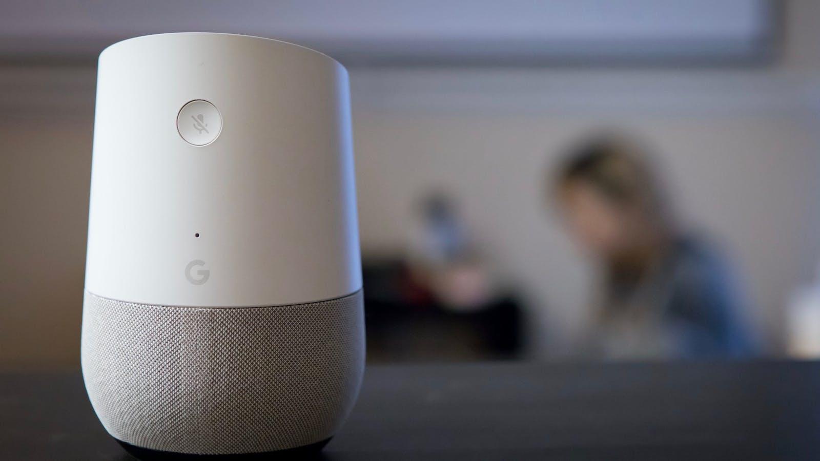 A Google Home speaker. Photo: AP