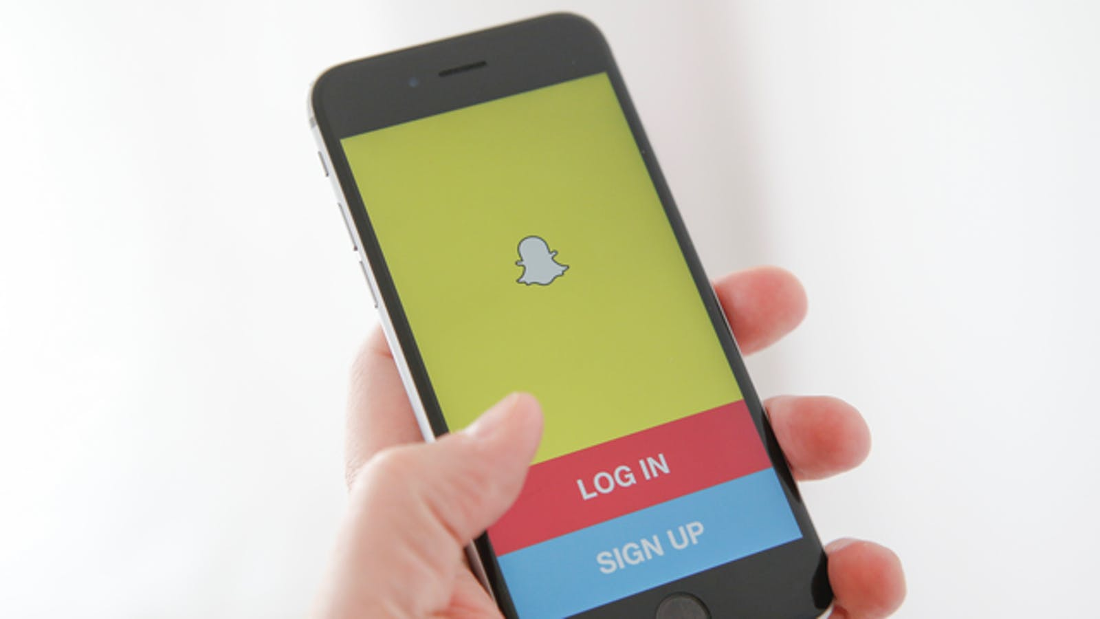 Snapchat's app open on an iPhone. Photo: AP