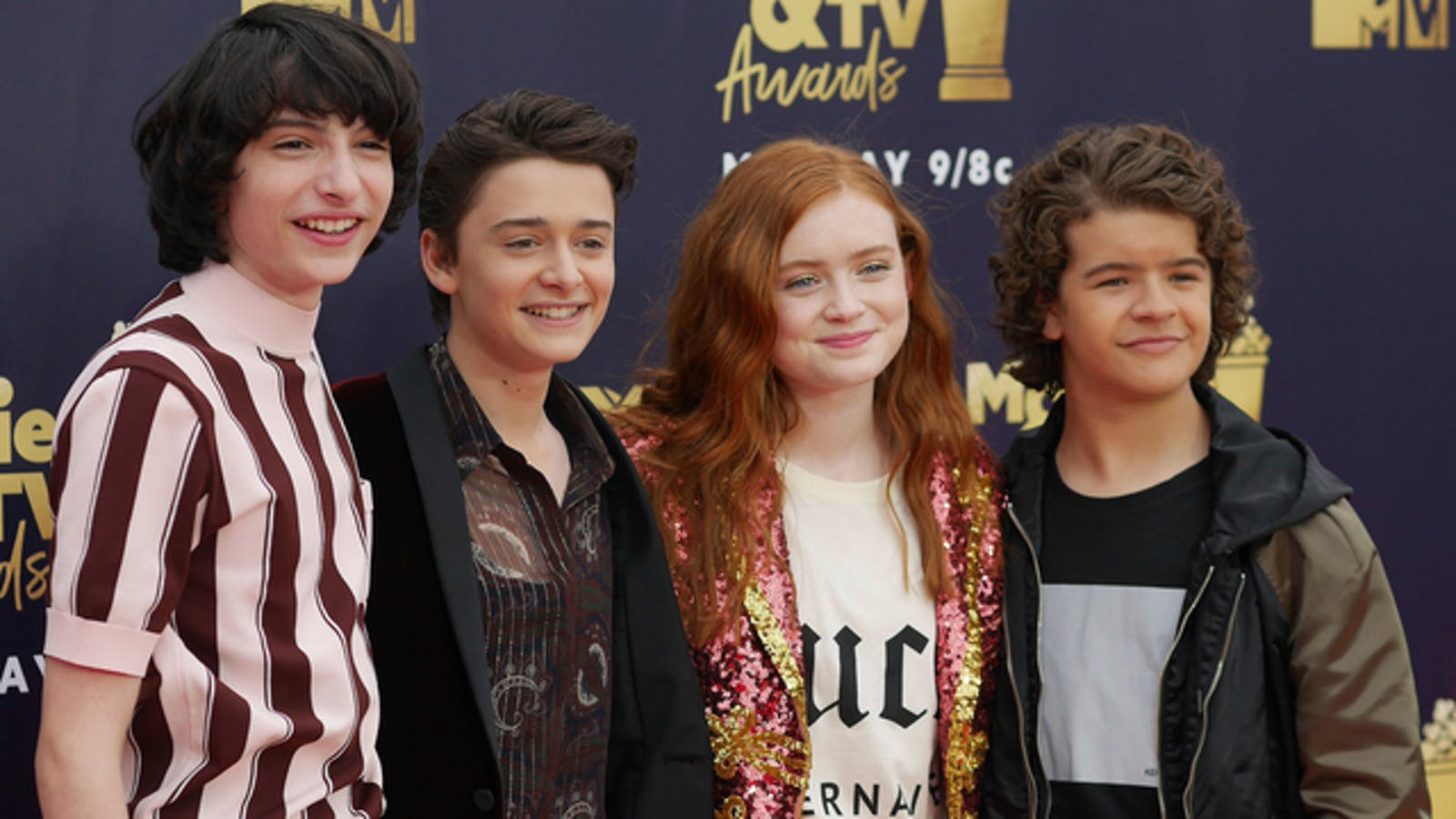 """Cast members from Netflix's """"Stranger Things"""" at an awards show last month. Photo: AP"""