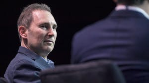 Amazon Web Services CEO Andy Jassy at a company event last year. Photo: Bloomberg