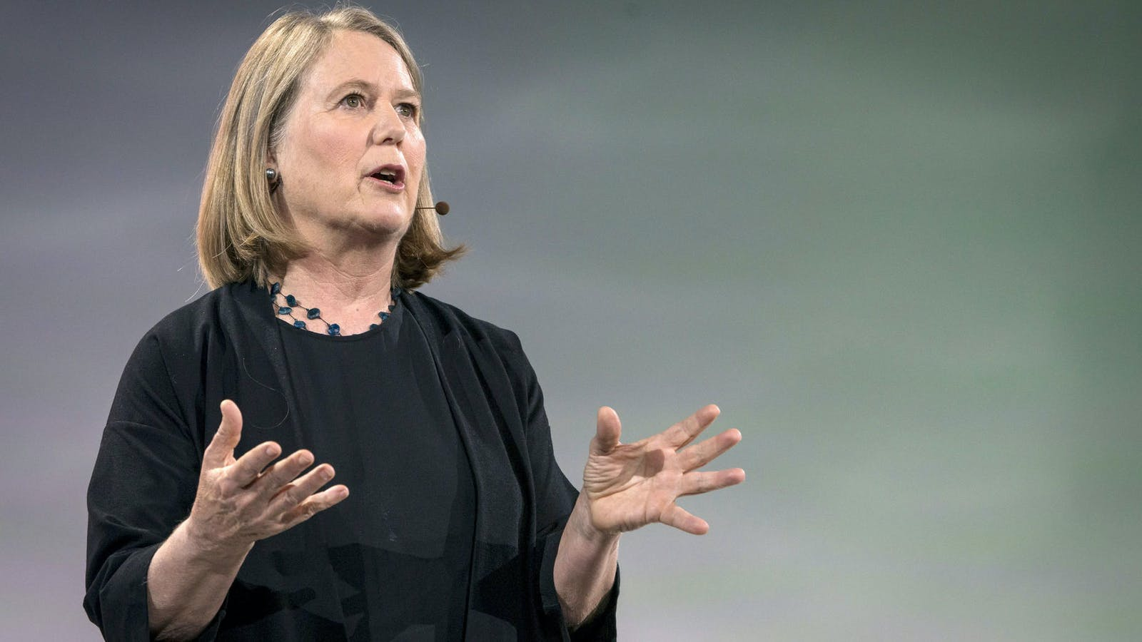 Google Cloud CEO Diane Greene on Tuesday at a company event in San Francisco. Photo: Bloomberg