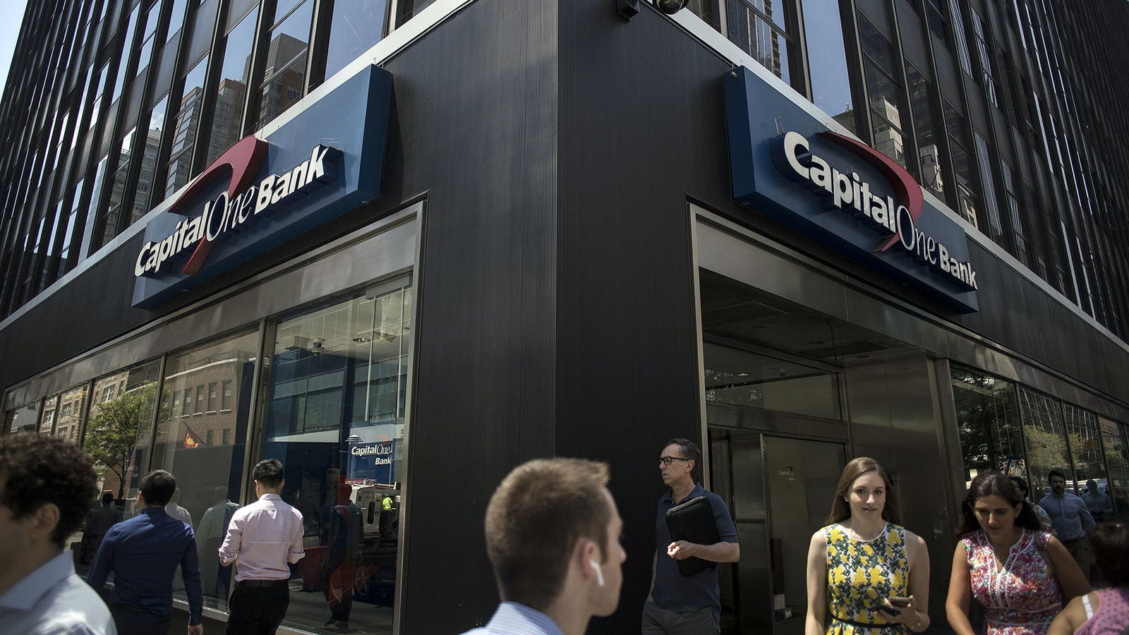 A Capital One branch in New York. Photo: Bloomberg
