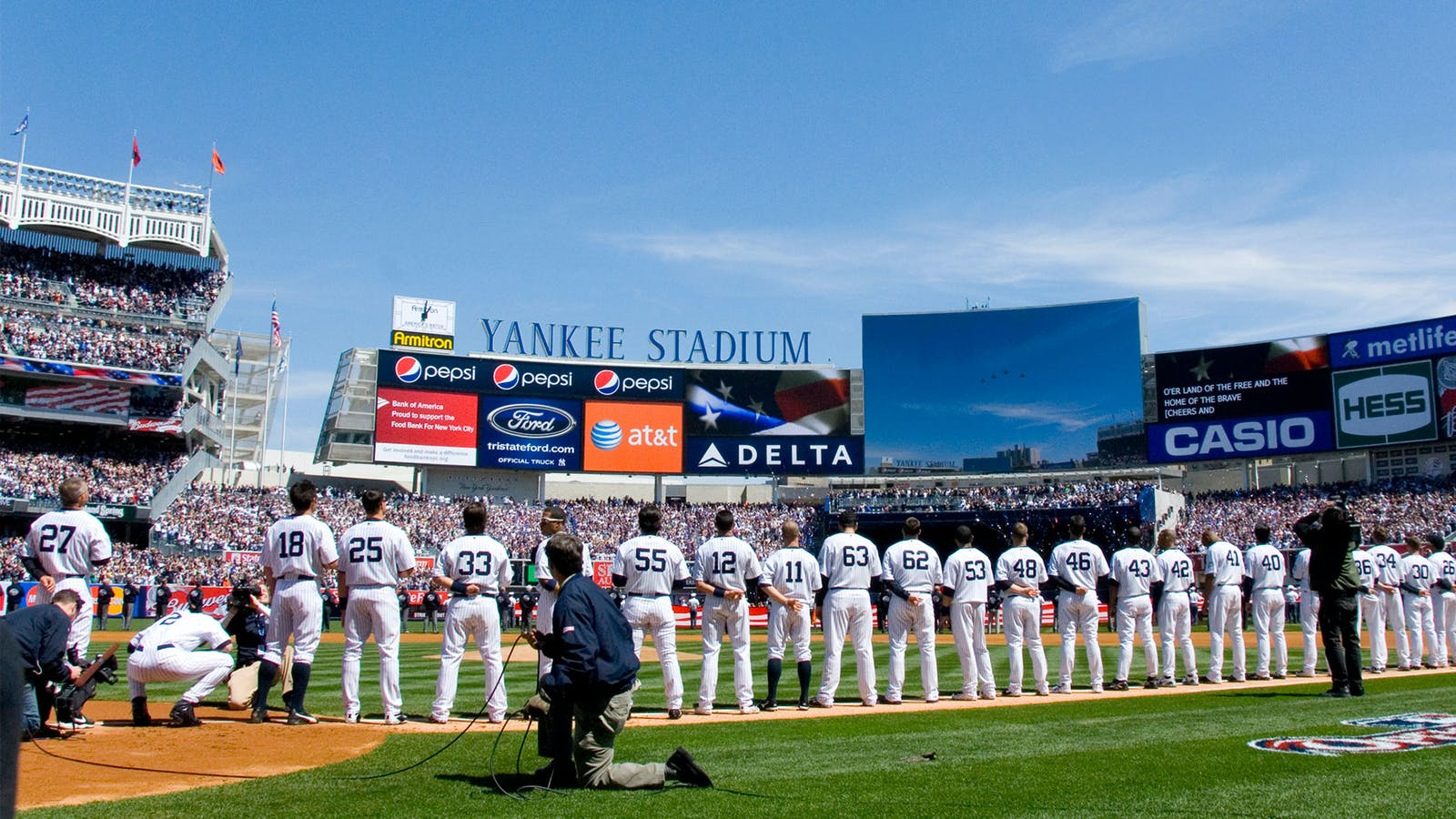 The New York Yankees, whose games are carried on the Fox sports channel the Yes Network. Photo by Wikimedia Commons/Jeremy M. Call