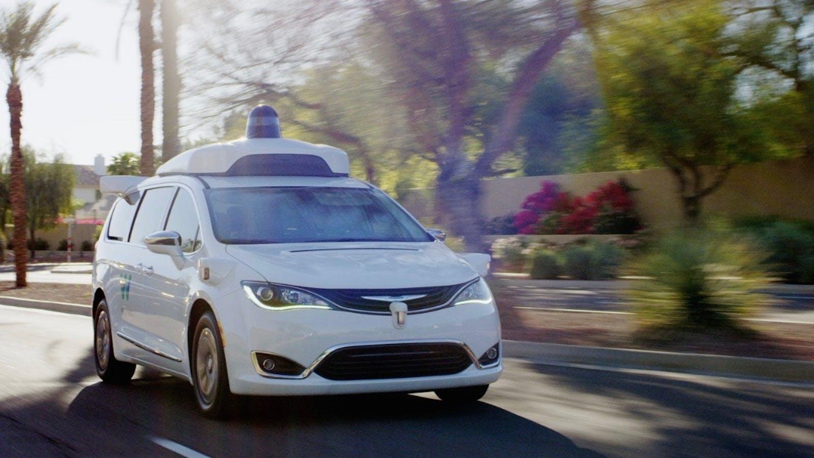 A Waymo self-driving van in Chandler, Ariz. Photo: Waymo