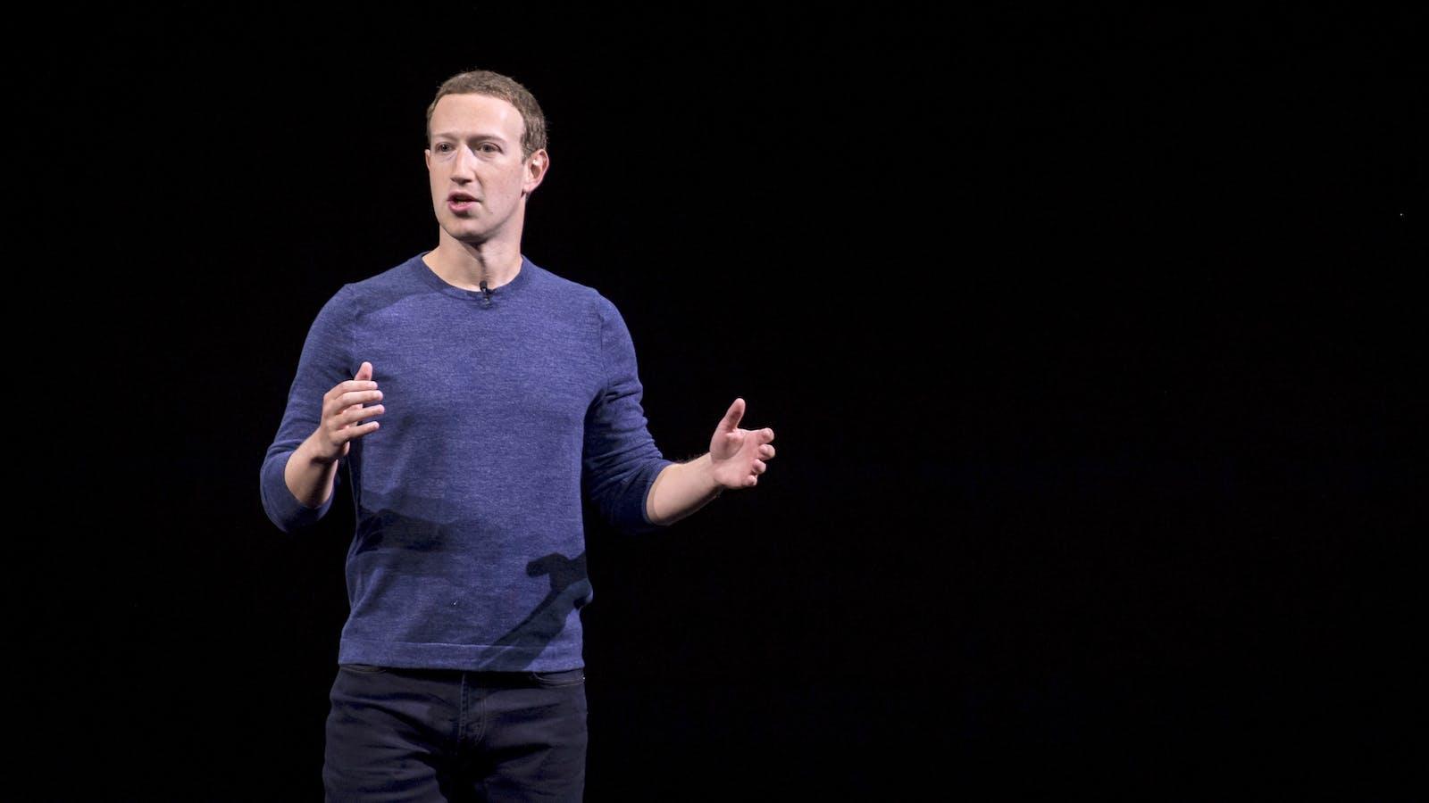 Facebook CEO Mark Zuckerberg. Photo by Bloomberg