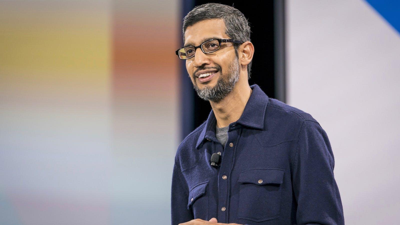 Google CEO Sundar Pichai. Photo by Bloomberg