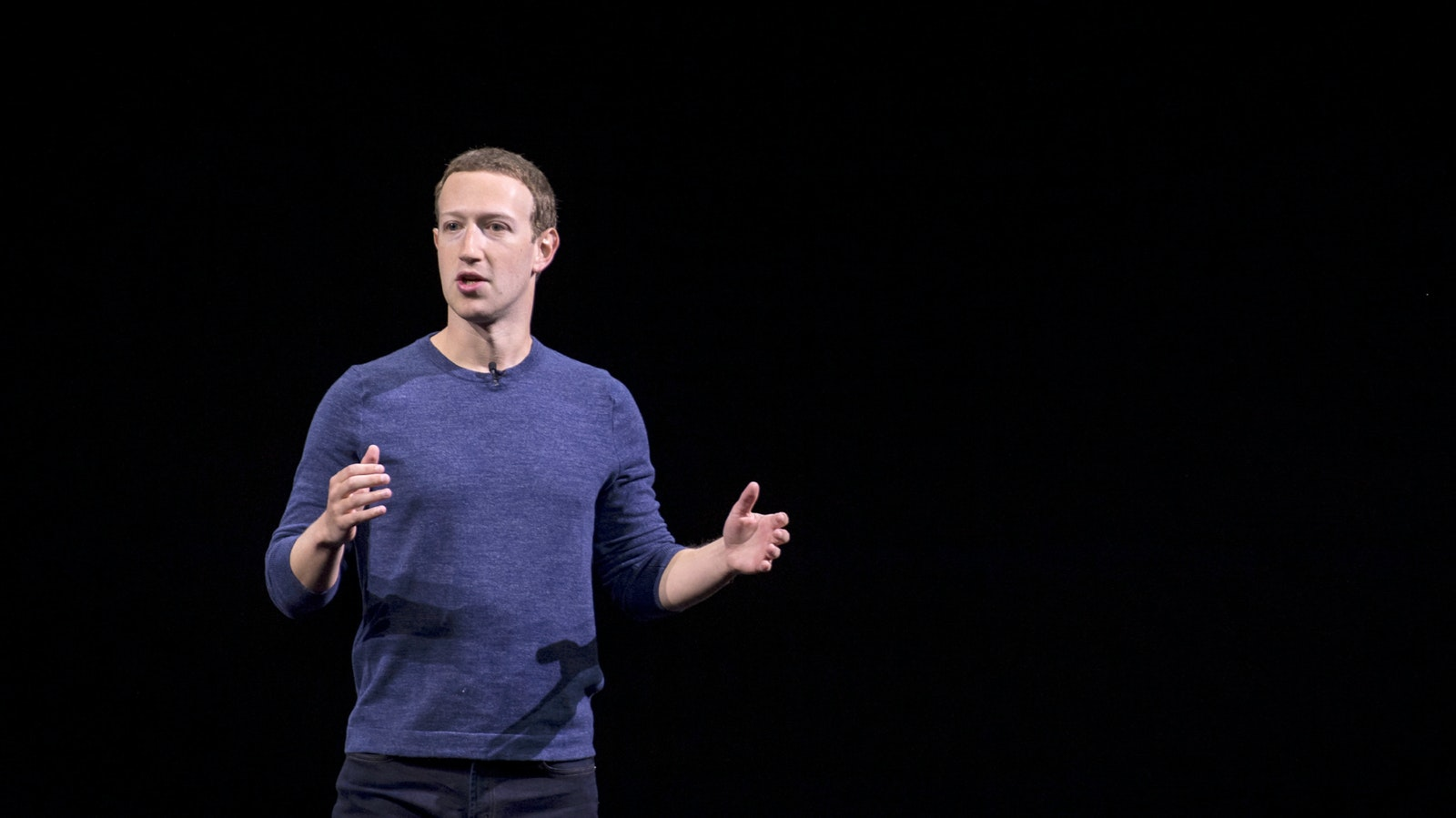 Facebook CEO Mark Zuckerberg at a company event in September. Photo by Bloomberg