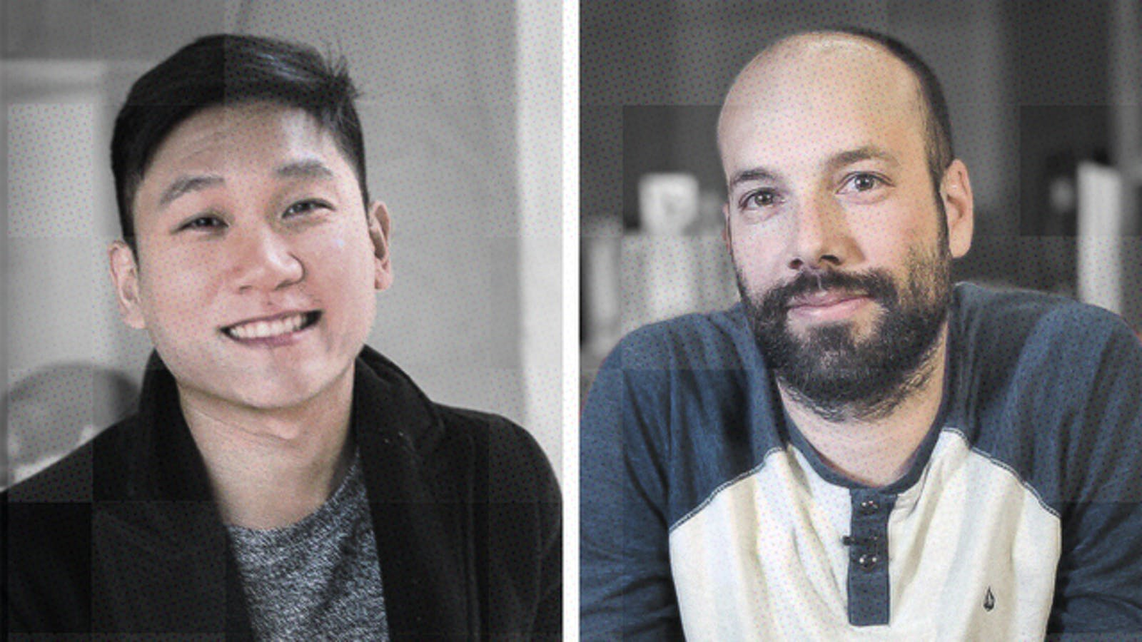Sam Yam and Jack Conte. Photos by Patreon