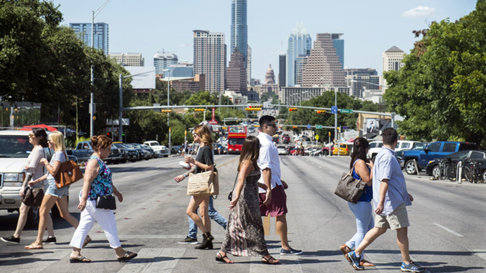 Vacation rental startups are snapping up apartment leases in places like Austin, Texas, above. Photo: Bloomberg