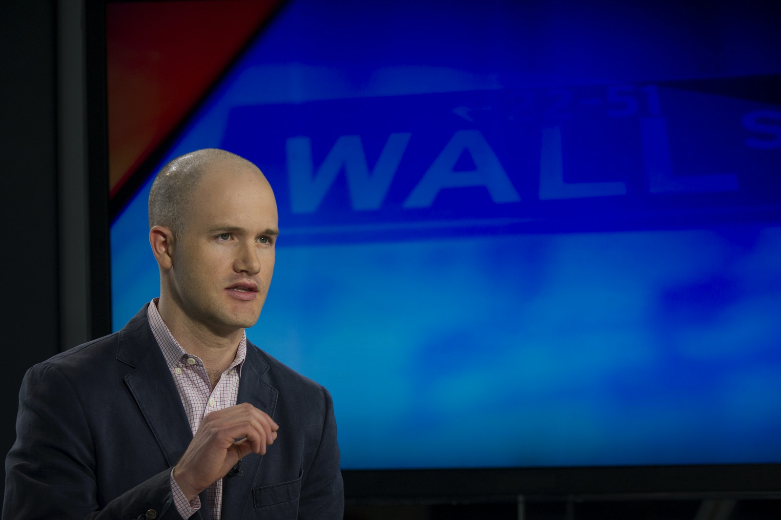 Coinbase CEO Brian Armstrong. Photo by Bloomberg.